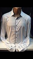 Стильные белые мужские турецкие рубашки с шёлком, фото 1