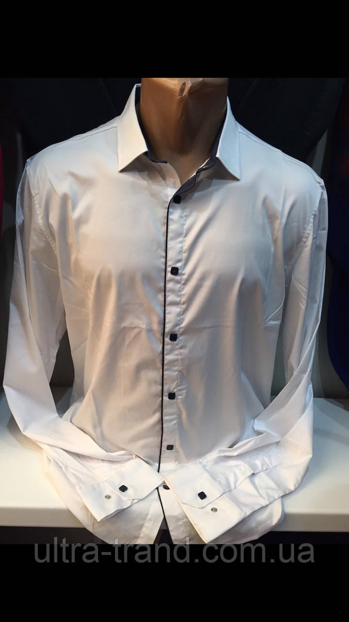 51e166bf19ba484 Стильные белые мужские турецкие рубашки с шёлком - Интернет магазин  Ultra-Trend в Харькове