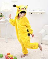 Теплая, мягкая детская пижама Кигуруми Покемон Пикачу - 140см (на рост 140-150см)