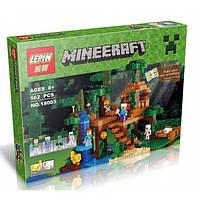 """Конструктор Lepin Minecraft 18003 """"Майнкрафт Домик на дереве в джунглях"""", 562 деталей. Аналог Лего 21125"""