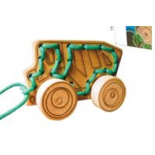 Дерев`яна шнурівка-каталка Самосвал ( В коробці)