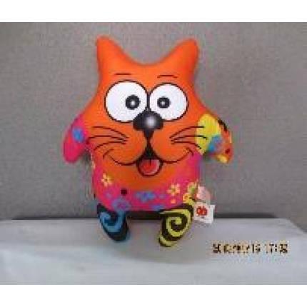 Антистресова іграшка м`яконабивна DT-ST-01-47 SOFT TOYS Кіт-зірка померанчовий, фото 2
