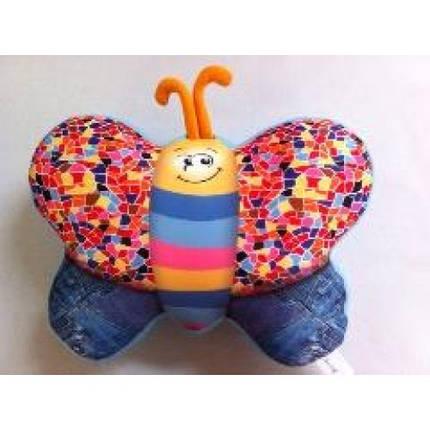 Антистресова іграшка м`яконабивна DT-ST-01-56 SOFT TOYS Метелик джинсовий, фото 2