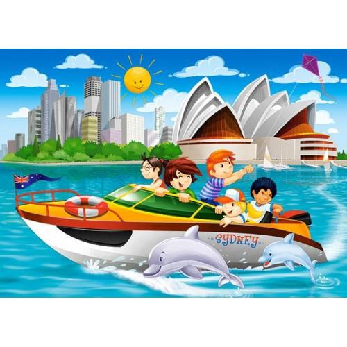 Пазл Касторленд 60(6025) Яхта у Сіднеї 32*23 см