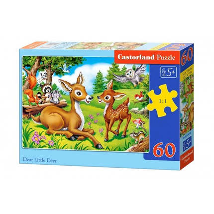 Пазл Касторленд 60(6049) Маленькі оленята 32*23 см, фото 2