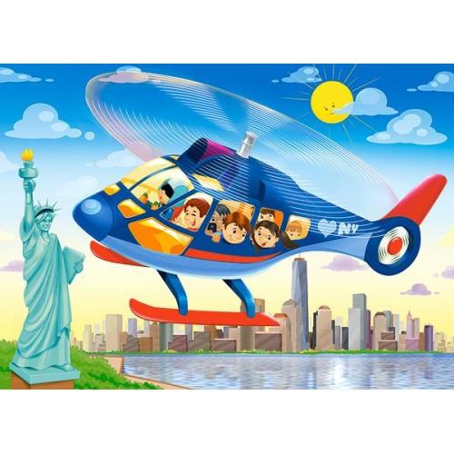 Пазл Касторленд 60(6063) Вертолітний тур у Нью-Йорку 32*23 см