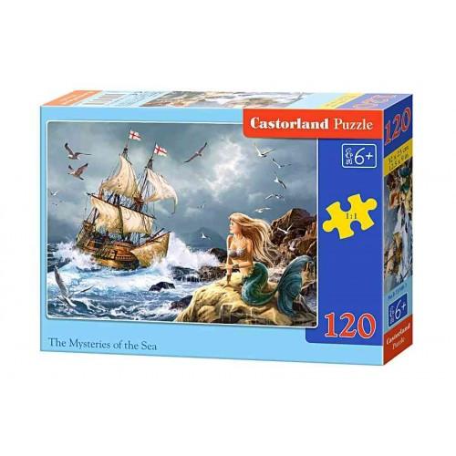 Пазл Касторленд 120 (13166) Русалка і човен 32*23 см