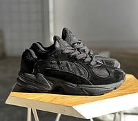 Adidas Yung-1 Triple Black | кроссовки женские и мужские; черные
