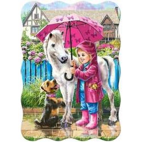 Пазл Касторленд 30 (426) Дівчинка з парасолькою 32*23 см