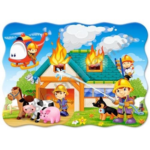 Пазл Касторленд 30 (525) Пожежа на фермі 32*23 см