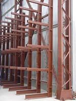 Изготовление консольных стеллажей Киев
