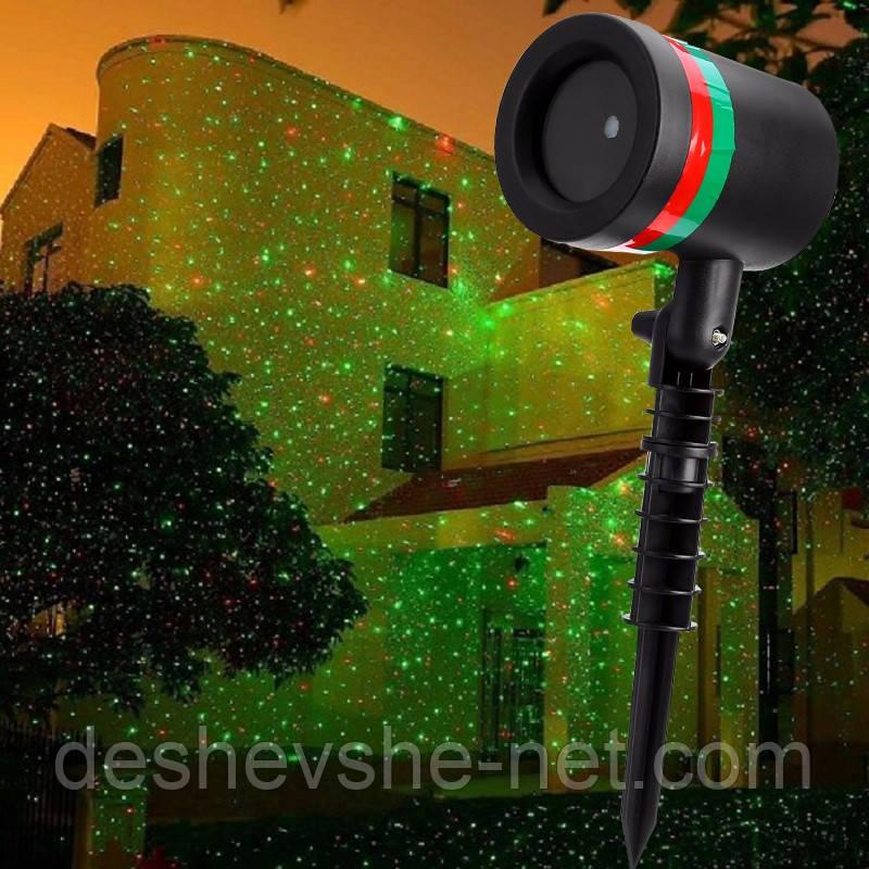 Уличный лазерный проектор Star Shower Laser Light, мини лазер Стар Шовер