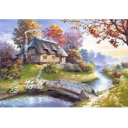 Пазл Касторленд 1500 (0359) Будиночок біля річки 68*47 см, фото 2