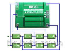 BMS плата защиты 4S Li-Ion 18650 40A усиленная версия