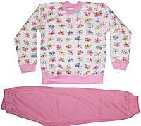 Пижама хлопковая розовая для девочки, в бабочки, рост 110 см, ТМ Ля-ля
