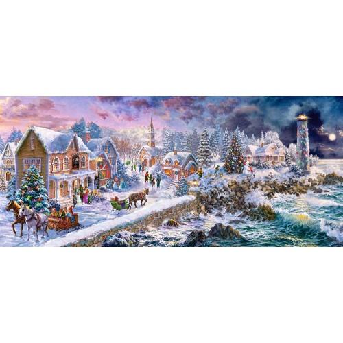 Пазл Касторленд 600 (184) Новорічне свято 68*30 см