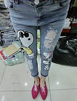 Стильные потертые джинсы, фото 1