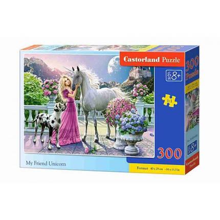 Пазл Касторленд 300 (088) Дівчина та єдиноріг 40*29 см, фото 2