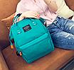 Женский рюкзак сумка городской школьный Living Зеленый, фото 3