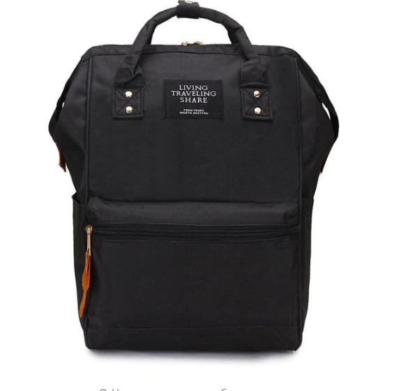 Женский рюкзак сумка городской школьный Living Черный
