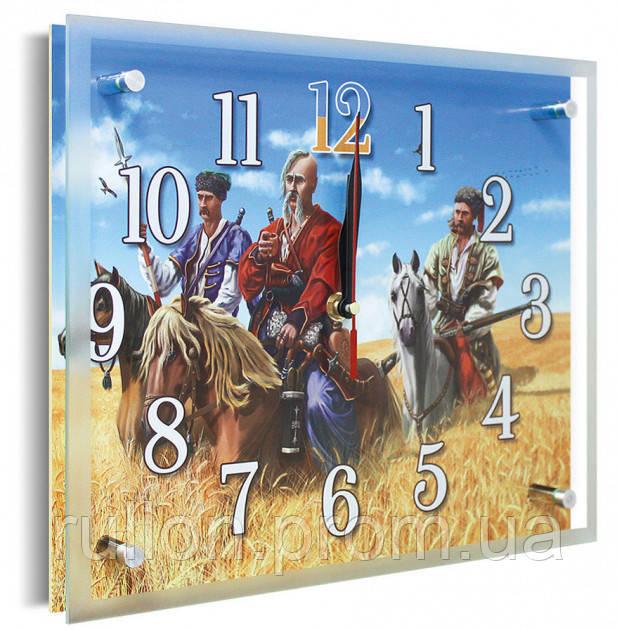 Часы настенные с картиной под стеклом YS-Art 25х30см (PR008)
