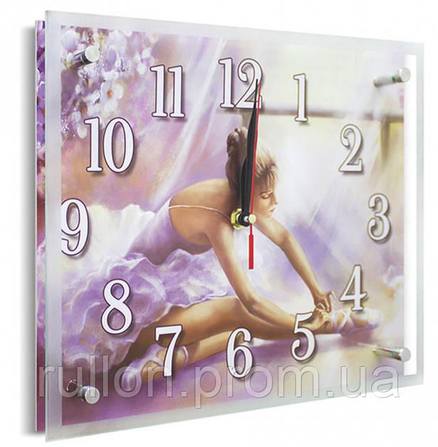 Часы настенные с картиной под стеклом YS-Art 25х30см (PR017)
