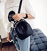 Рюкзак женский мини черный с заклепками, фото 2