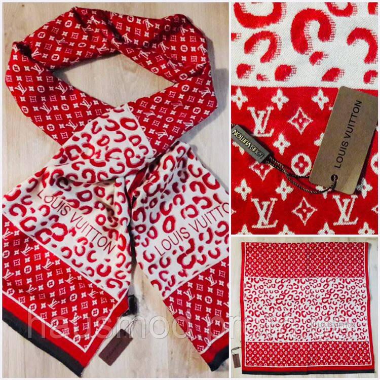 Палантин копия люкс бренда репликаLouis Vuitton красный