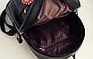 Рюкзак женский кожзам с цветами Черный, фото 7