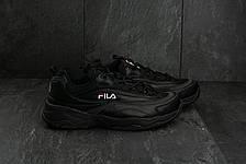 Кроссовки A 116-15 (Fila Ray x Folder) (весна-осень, мужские, кожа прессованая, черный), фото 2