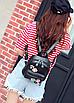 Рюкзак женский кожзам с цветами Черный, фото 2