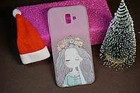 Чехол бампер силиконовый Samsung Galaxy J6+J610 Plus Самсунг с рисунком