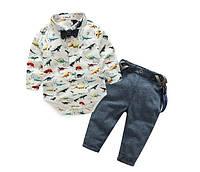 Комплект брючки и боди-рубашка, фото 1