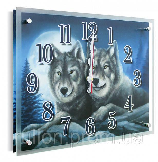 Часы настенные с картиной под стеклом YS-Art 30х40см (PB008)