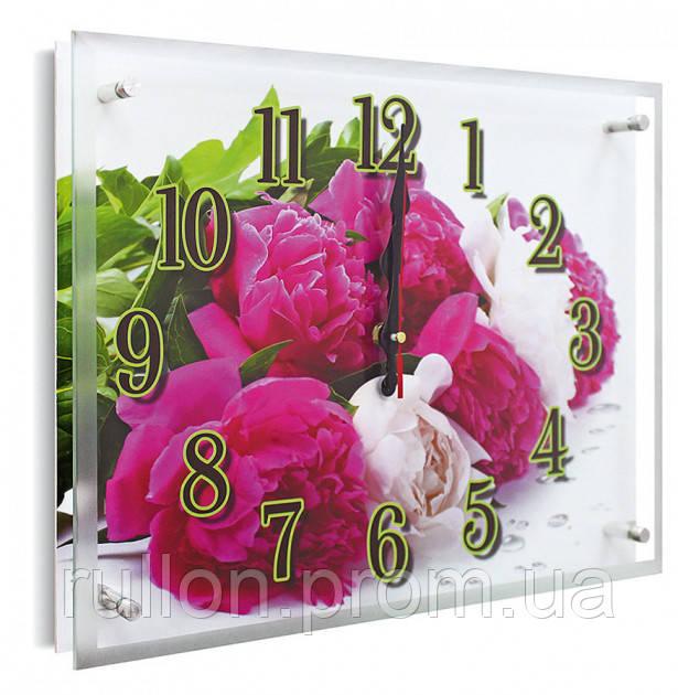 Часы настенные с картиной под стеклом YS-Art 30х40см (PB010)