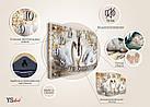 Часы настенные с картиной под стеклом YS-Art 30х40см (PB010), фото 5