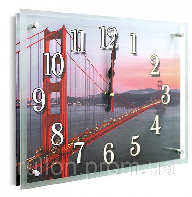 Часы настенные с картиной под стеклом YS-Art 30х40см (PB011)