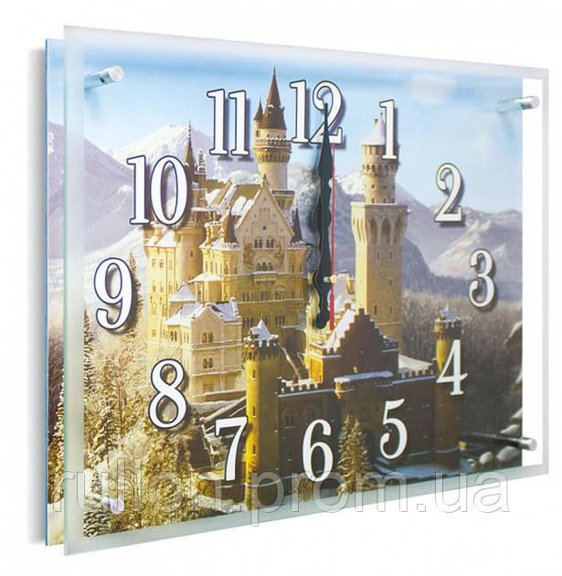 Часы настенные с картиной под стеклом YS-Art 30х40см (PB014)