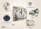 Часы настенные с картиной под стеклом YS-Art 30х40см (PB014), фото 5