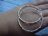 Оригинальные Серебряные серьги - кольца 52мм. , фото 2