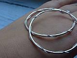 Оригинальные Серебряные серьги - кольца 52мм. , фото 3