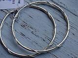Оригинальные Серебряные серьги - кольца 52мм. , фото 9