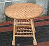 Плетеный стол круглый