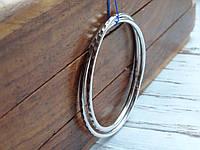 Срібні сережки - кільця 38мм. з Алмазною гранню, фото 1