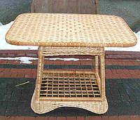 Плетеной стол из лозы