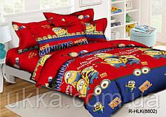 Детское постельное белье полуторное Миньены подростковый