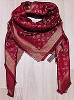 Люрексовый палантин-шаль реплика Louis Vuitton бордо вышит золотой нитью , фото 1