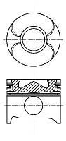 Поршень CDI STD88.00 mm.(косой шатун/д.п