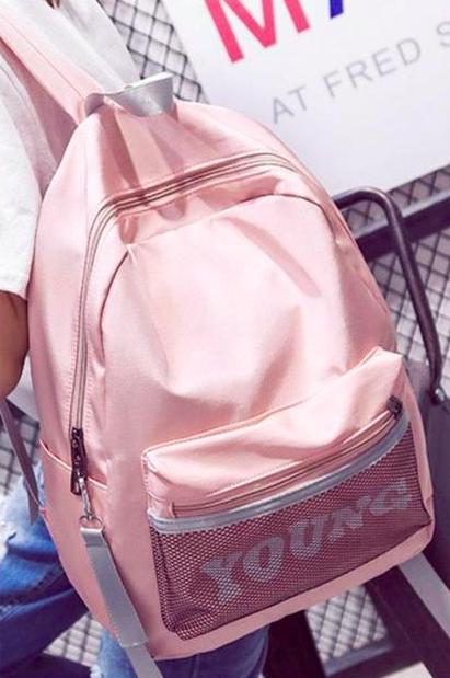 Рюкзак женский городской Young Розовый