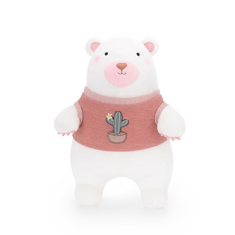 Мягкая игрушка Мишка в розовом свитере, 35 см Metoys